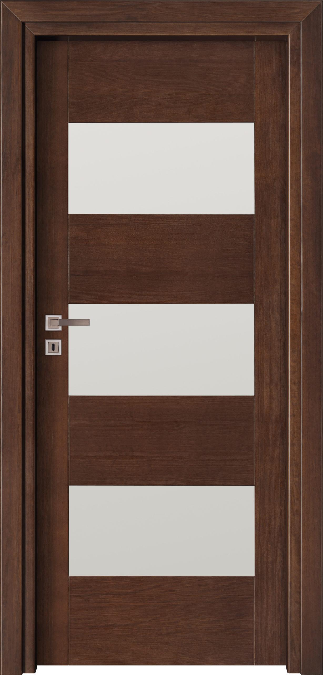 Bolzano A1 - jesion- jasny orzech - szklenie lacomat bezpieczny - ościeżnica przylgowa regulowana drewniana prosta (IIa)