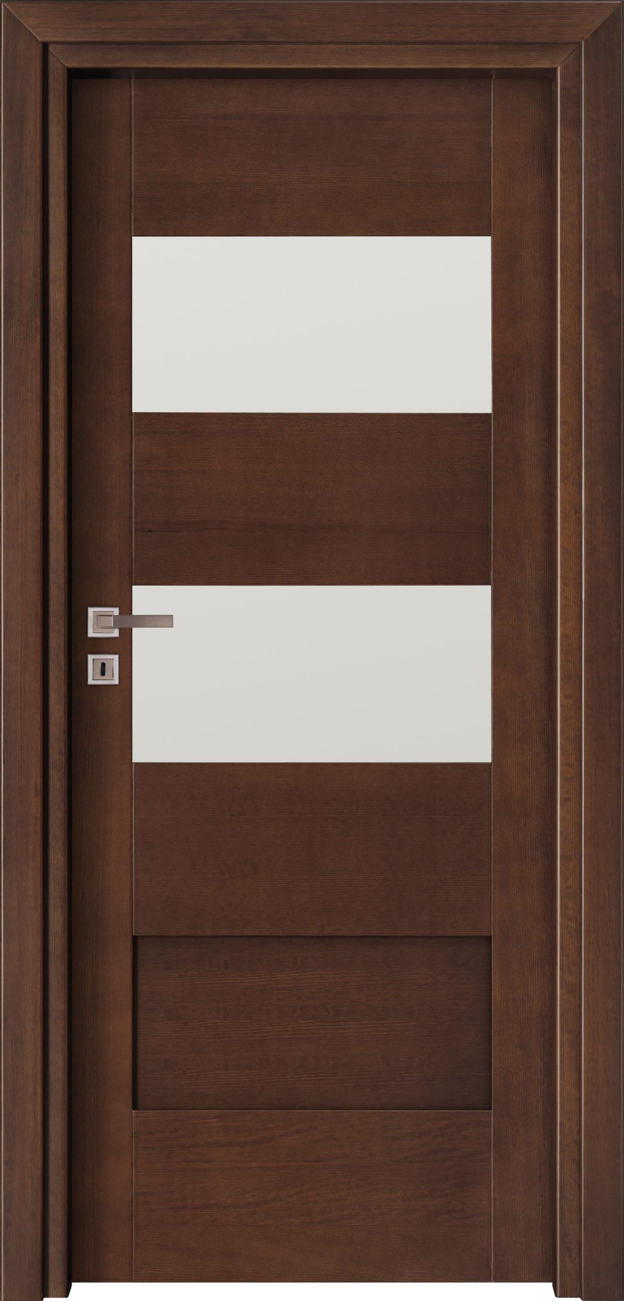 Bolzano A2 - jesion - jasny orzech - szklenie lacomat bezpieczny - ościeżnica przylgowa regulowana drewniana prosta (IIa)