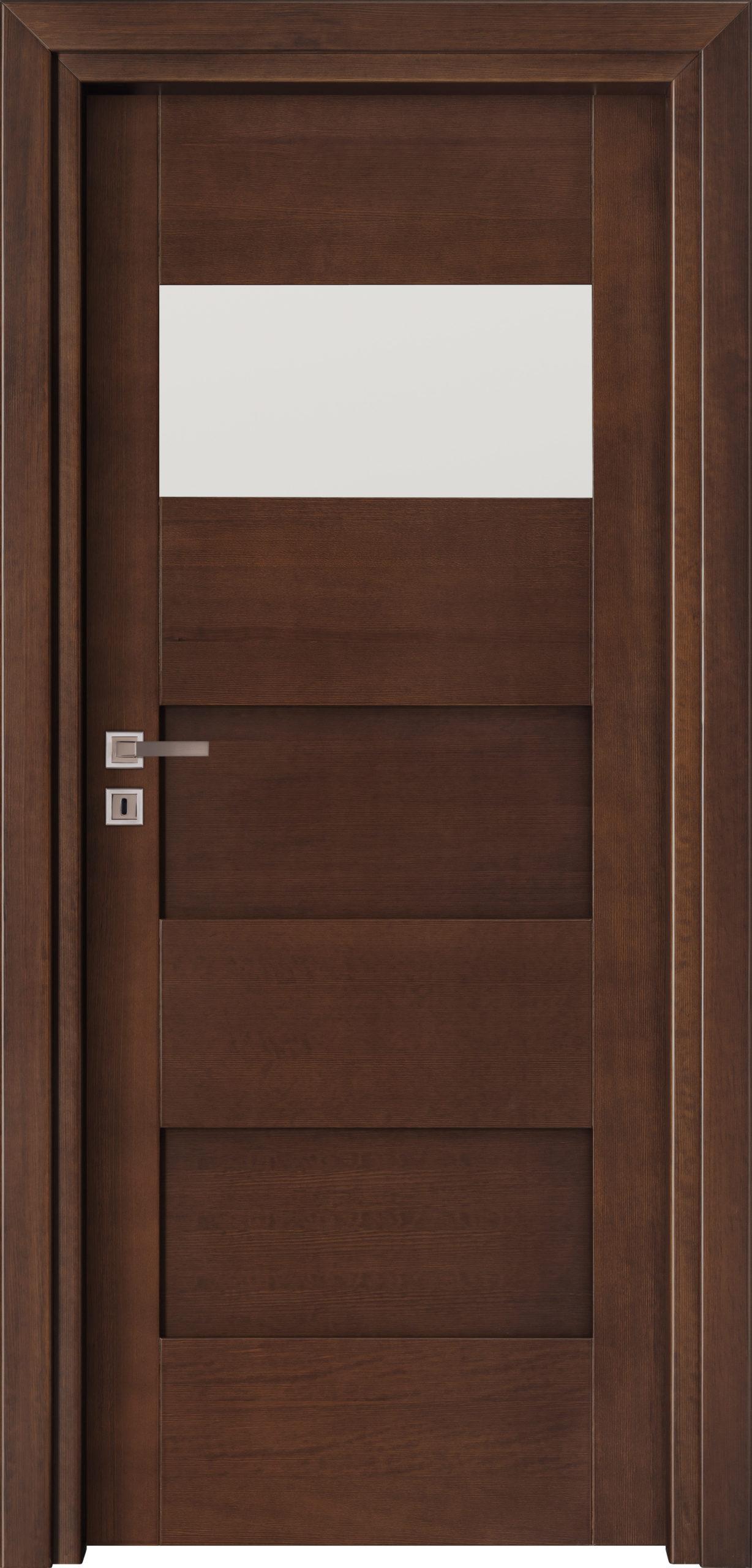 Bolzano A3 - jesion - jasny orzech - szklenie lacomat bezpieczny - ościeżnica przylgowa regulowana drewniana prosta (IIa)