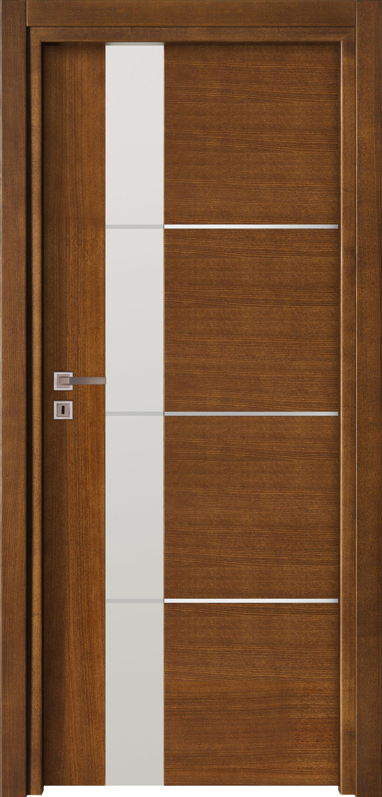 Focus A13 - jesion - jasny brunat- szklenie lacomat bezpieczny z piaskowaniem - ościeżnica przylgowa regulowana drewniana prosta (IIa)