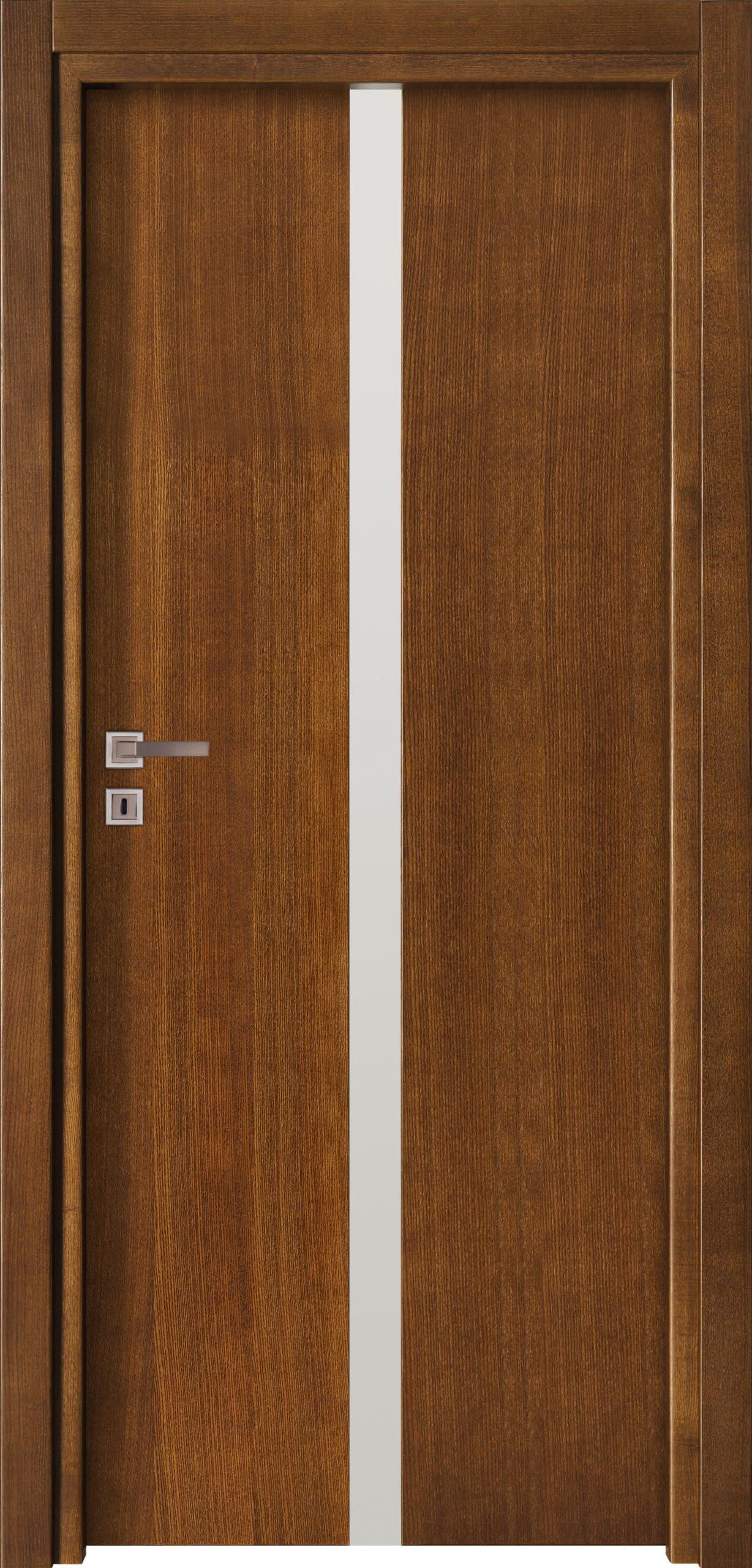 Focus A14 - jesion - jasny brunat - szklenie lacomat bezpieczny - ościeżnica przylgowa regulowana drewniana prosta (IIa)