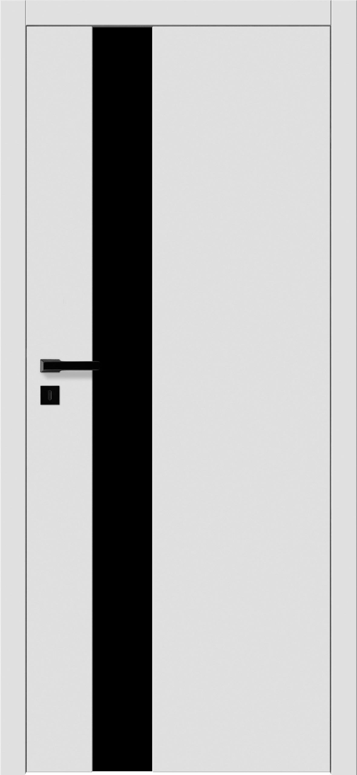 Focus A5 - gładki RAL - RAL 9016 - szklenie czarne bezpieczne - ościeżnica bezprzylgowa regulowana drewniana (V)