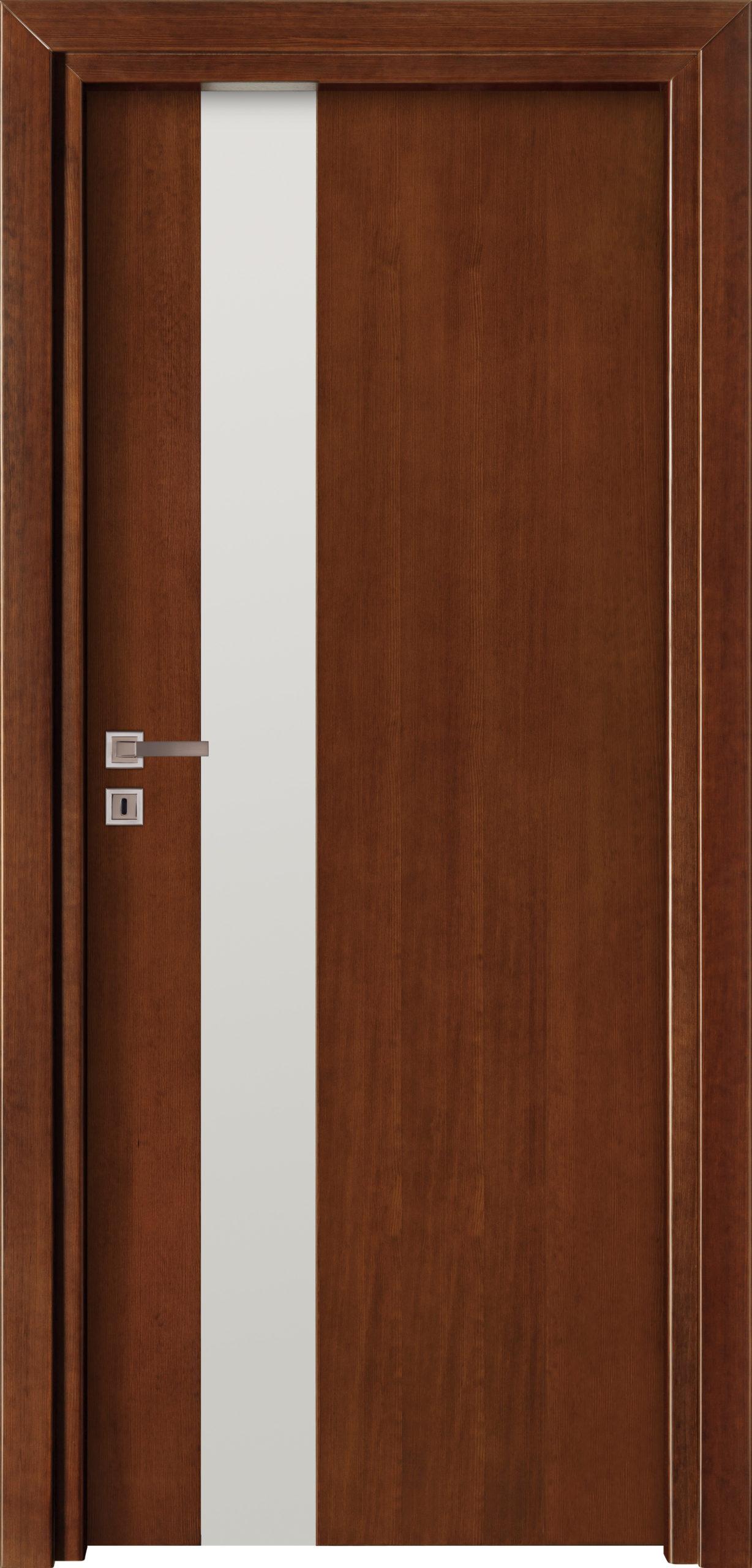 Focus A5 - jesion - ciemny calvados - szklenie lacomat bezpieczny - ościeżnica przylgowa regulowana drewniana prosta (IIa)