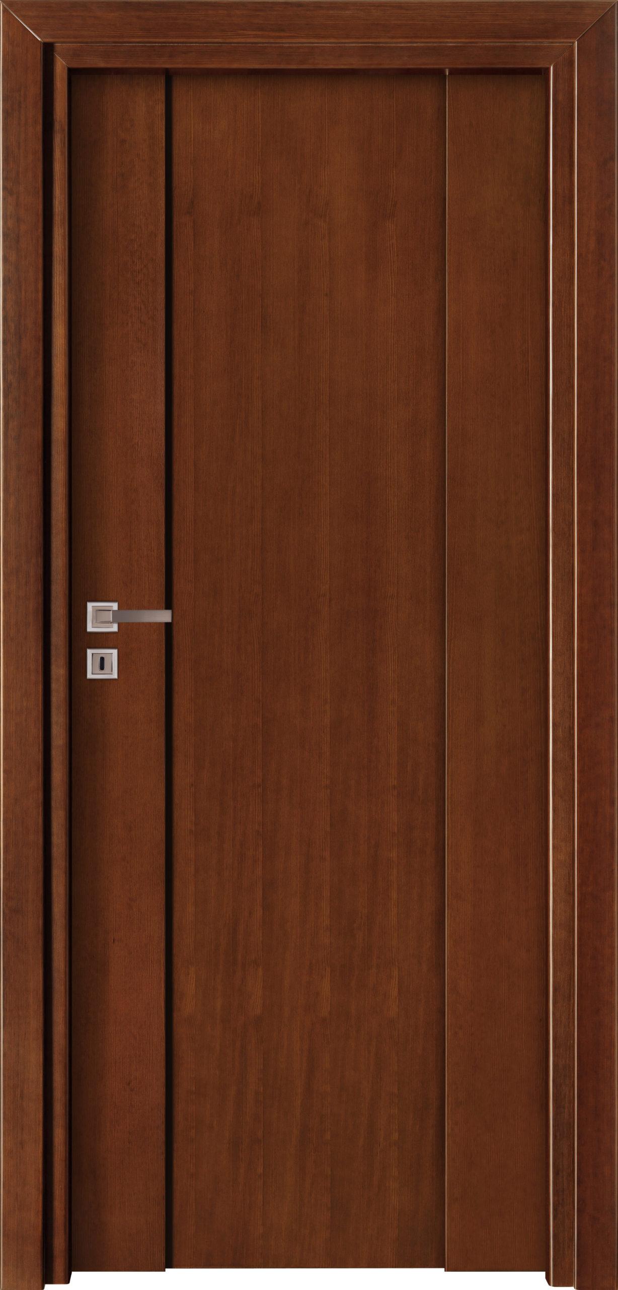 Focus A7 - jesion - ciemny calvados - ościeżnica przylgowa regulowana drewniana prosta (IIa)