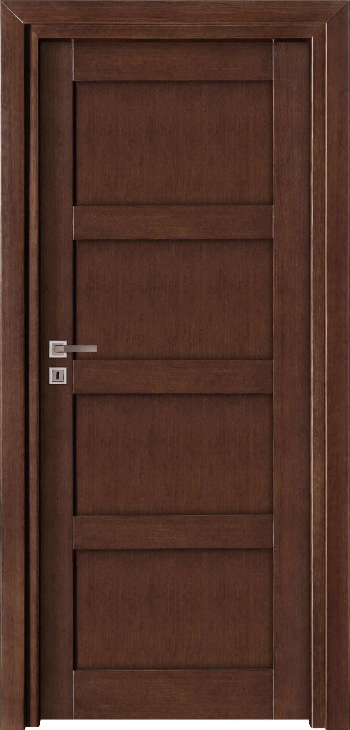 Manhattan A12 - jesion - jasny orzech - szklenie lacomat bezpieczny - ościeżnica przylgowa regulowana drewniana prosta (IIa)
