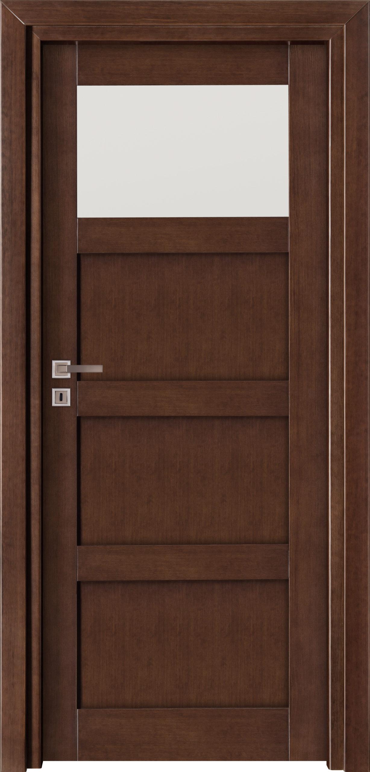 Manhattan A13 - jesion - jasny orzech - szklenie lacomat bezpieczny - ościeżnica przylgowa regulowana drewniana prosta (IIa)