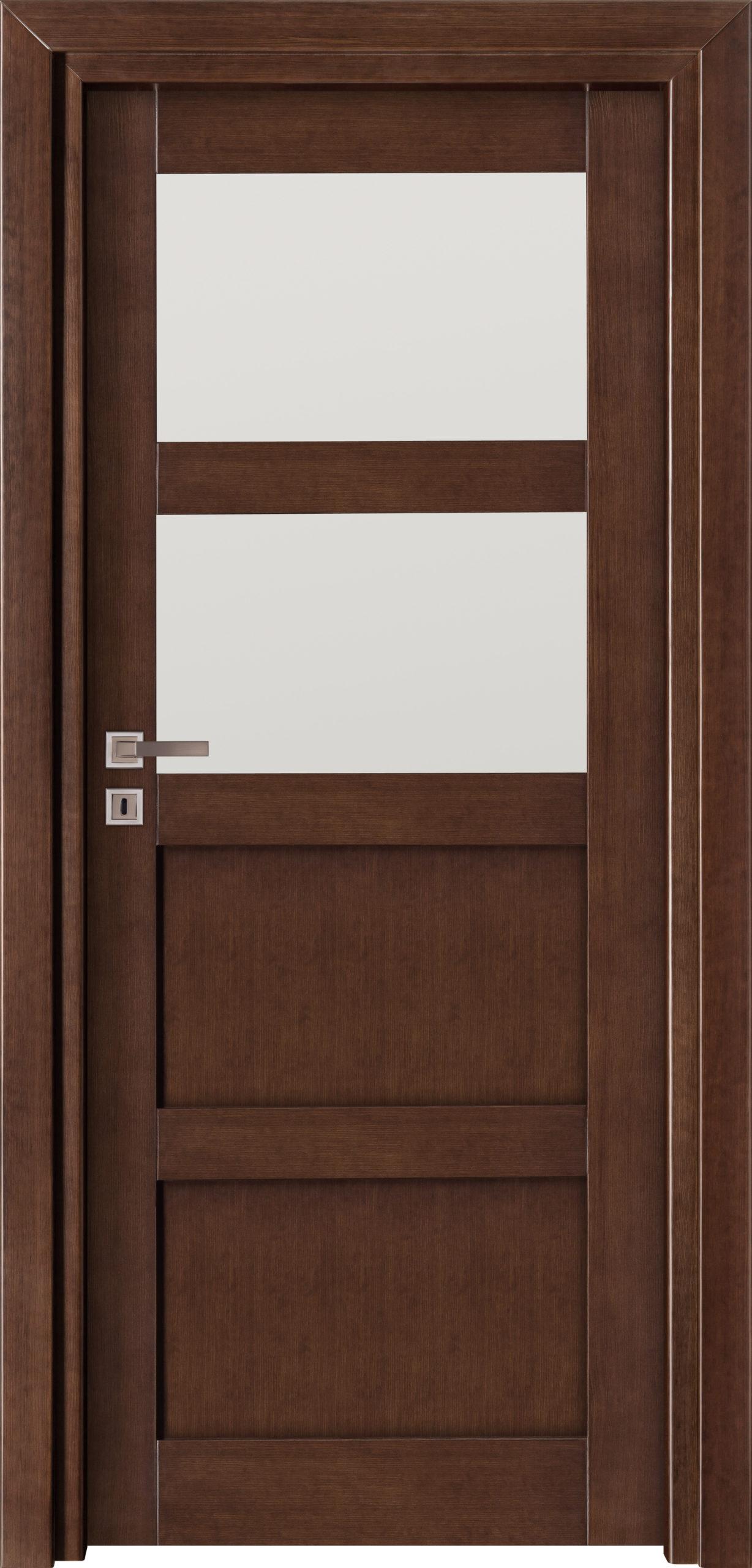 Manhattan A14 - jesion - jasny orzech - szklenie lacomat bezpieczny - ościeżnica przylgowa regulowana drewniana prosta (IIa)