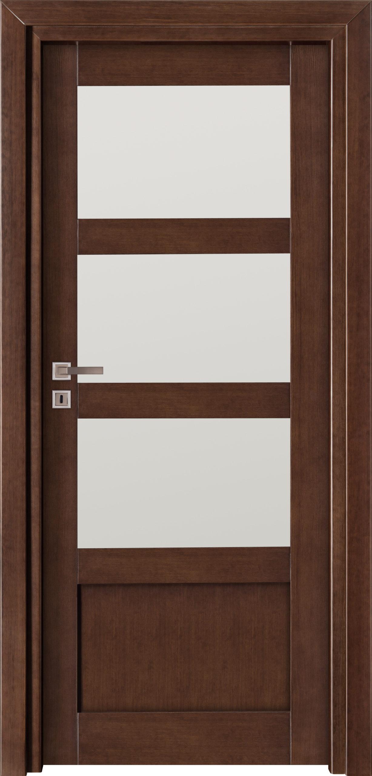 Manhattan A15 - jesion - jasny orzech - szklenie lacomat bezpieczny - ościeżnica przylgowa regulowana drewniana prosta (IIa)