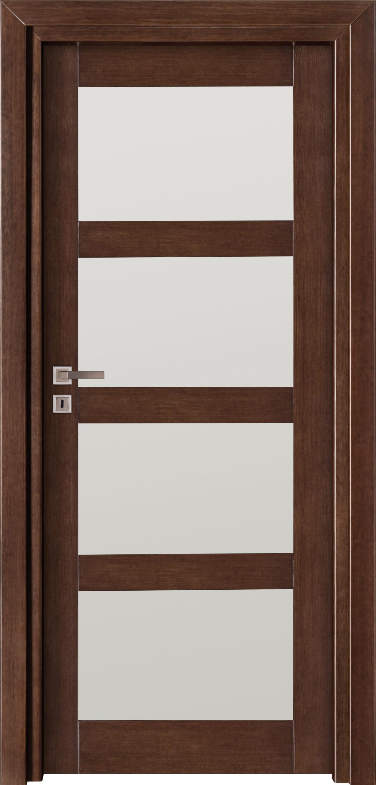 Manhattan A16 - jesion - jasny orzech - szklenie lacomat bezpieczny - ościeżnica przylgowa regulowana drewniana prosta (IIa)