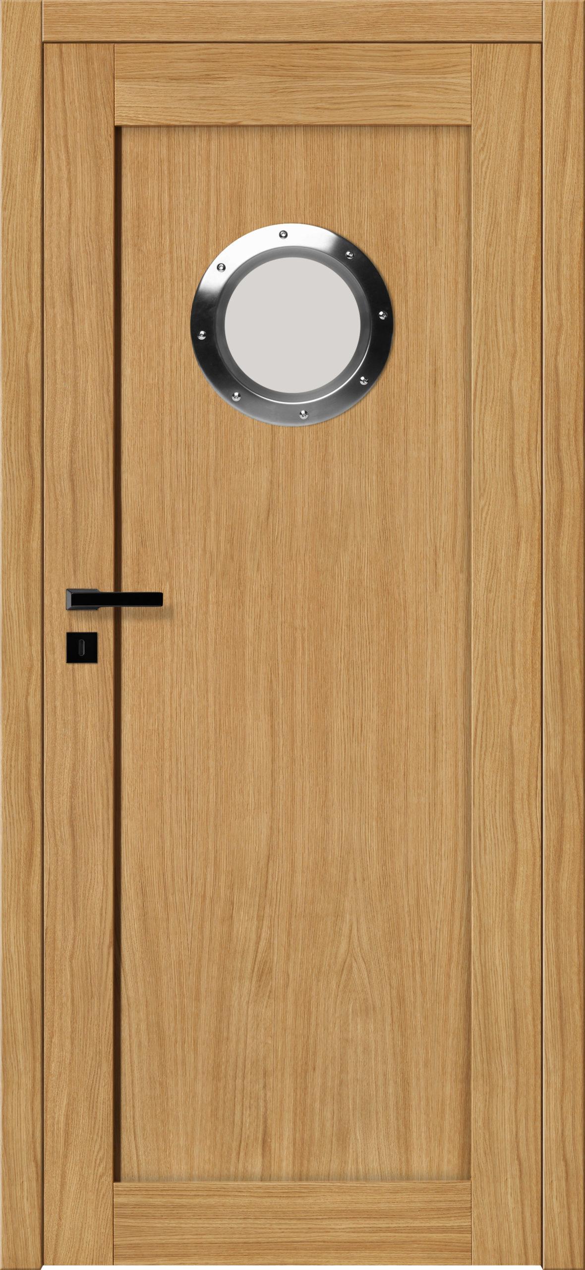 Sevilla B2 - dąb - lakier bezbarwny - szklenie lacomat bezpieczny - ościeżnica bezprzylgowa regulowana drewniana (V)