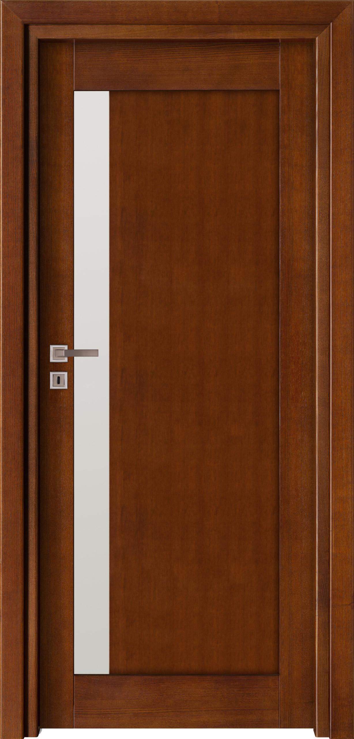 Sevilla B6 - jesion - ciemny calvados - szklenie lacomat bezpieczny - ościeżnica przylgowa regulowana drewniana prosta (IIa)