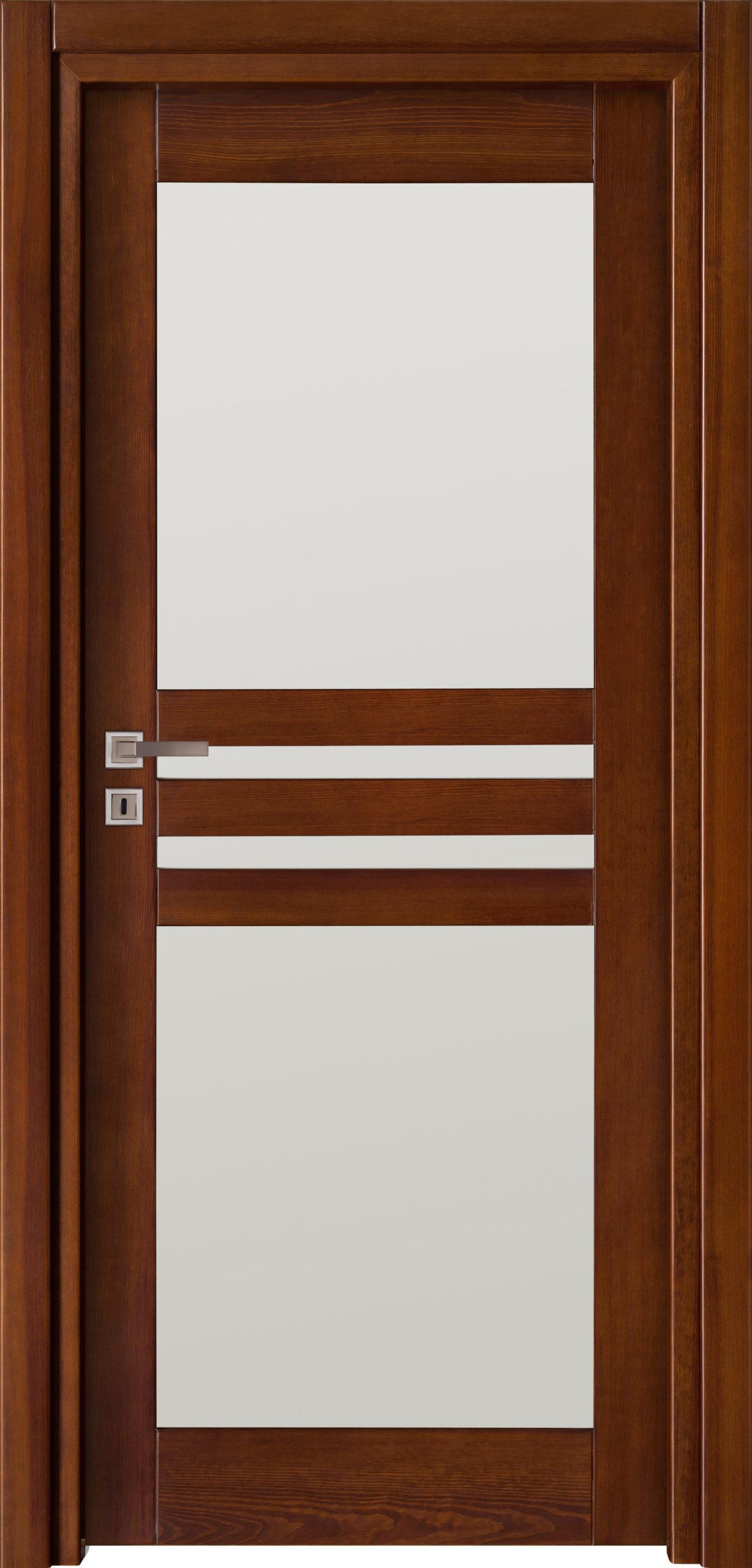 Tanger A1 - jesion - ciemny calvados - szklenie lacomat bezpieczny - ościeżnica przylgowa regulowana drewniana prosta (IIa)