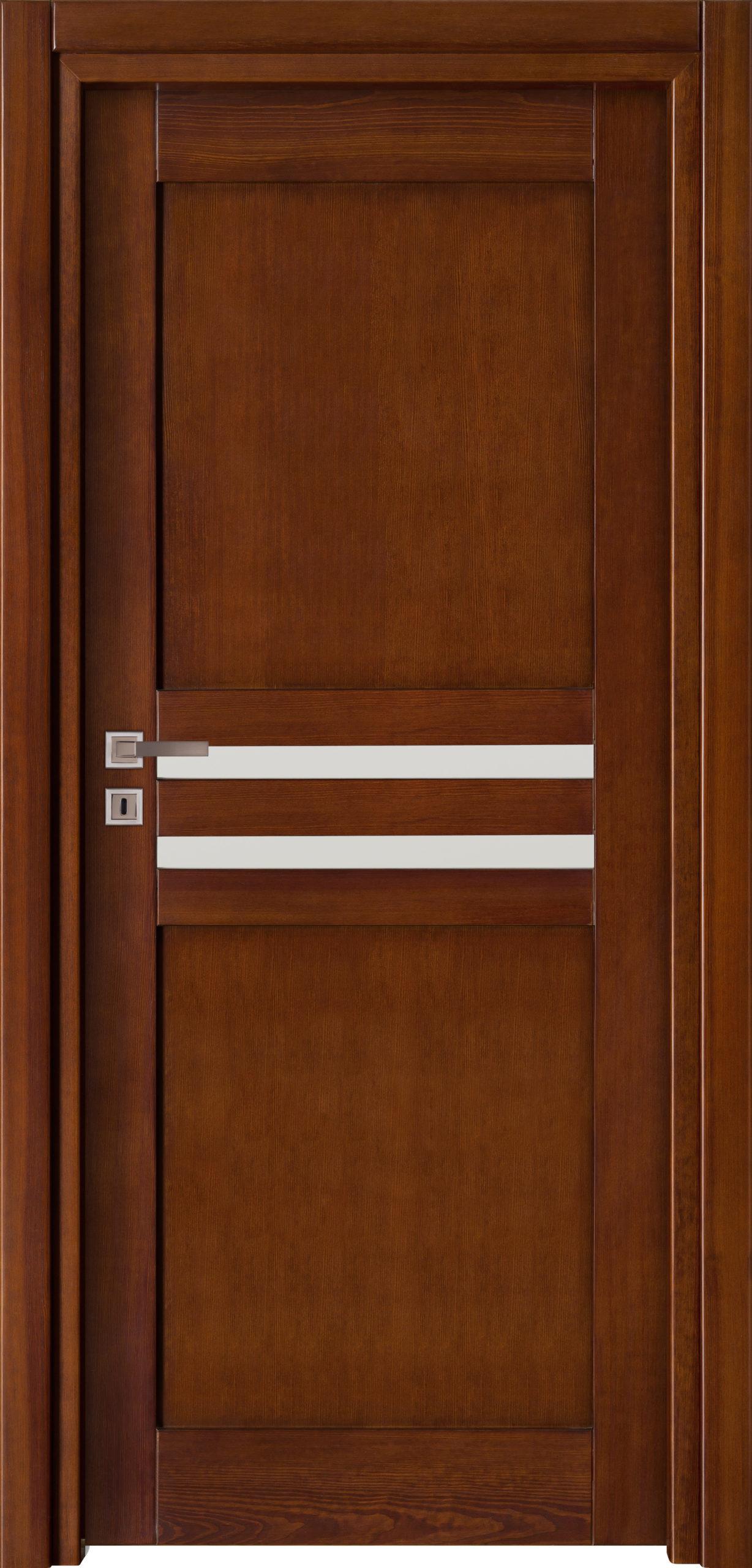 Tanger A2 - jesion - ciemny calvados - szklenie lacomat bezpieczny - ościeżnica przylgowa regulowana drewniana prosta (IIa)