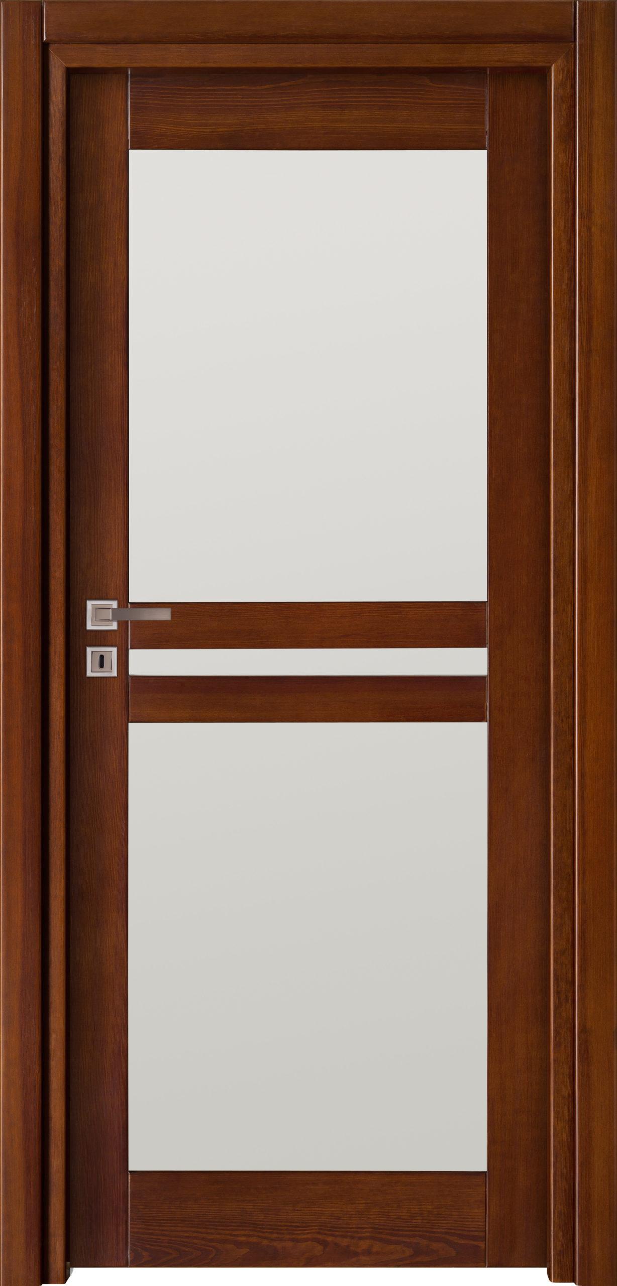 Tanger A4 - jesion - ciemny calvados - szklenie lacomat bezpieczny - ościeżnica przylgowa regulowana drewniana prosta (IIa)