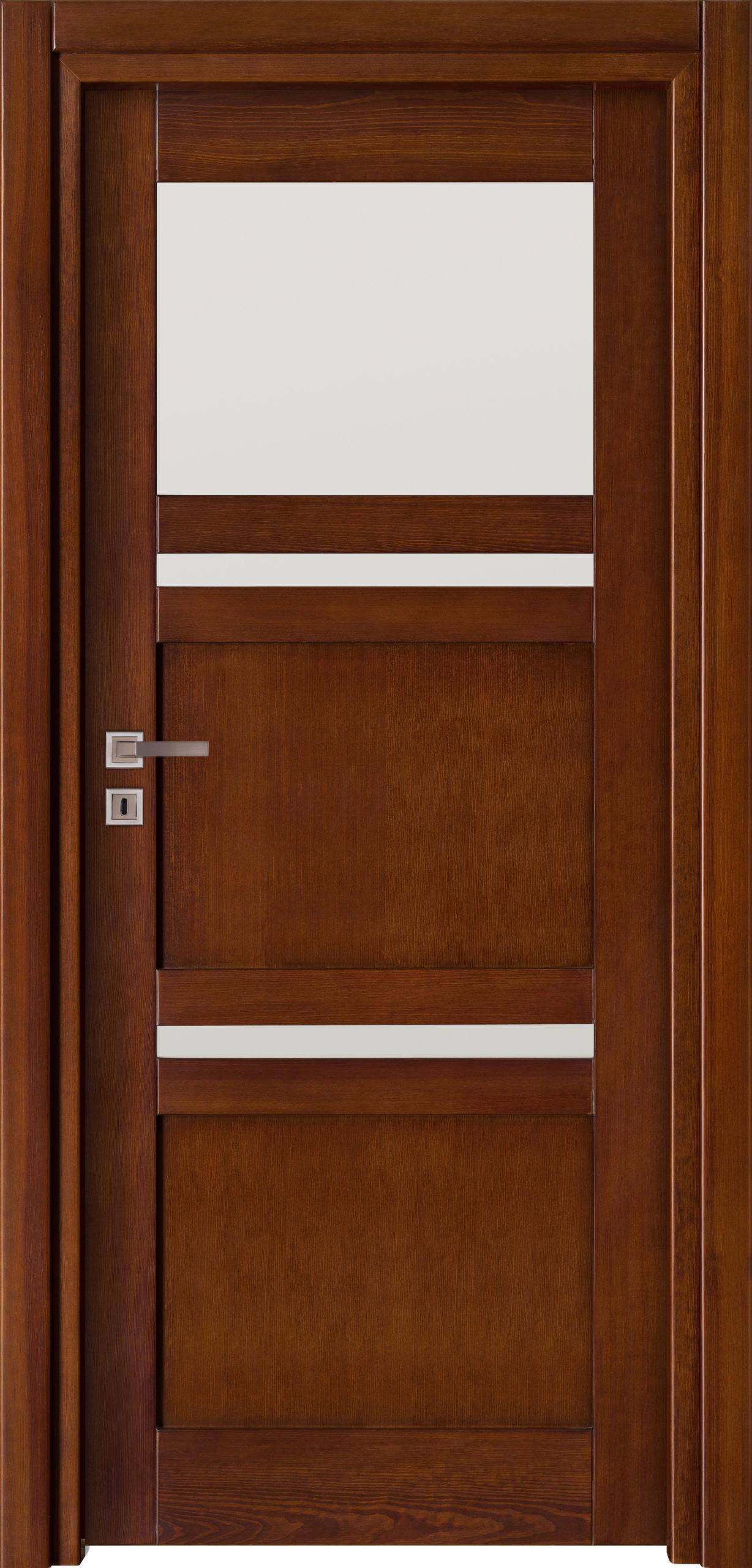 Tanger B1 - jesion - ciemny calvados - szklenie lacomat bezpieczny - ościeżnica przylgowa regulowana drewniana prosta (IIa)