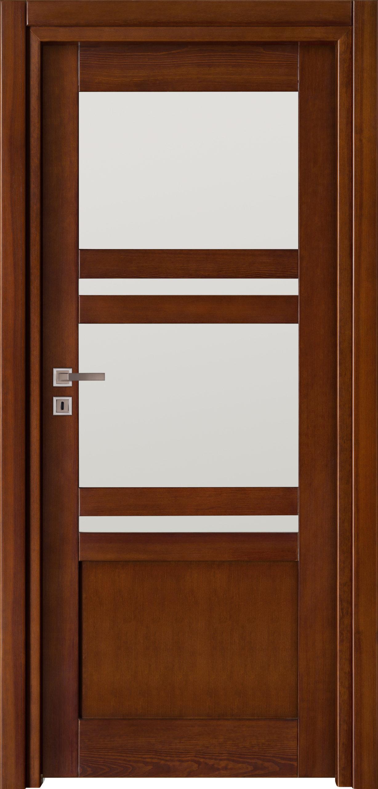 Tanger B2 - jesion - ciemny calvados - szklenie lacomat bezpieczny - ościeżnica przylgowa regulowana drewniana prosta (IIa)