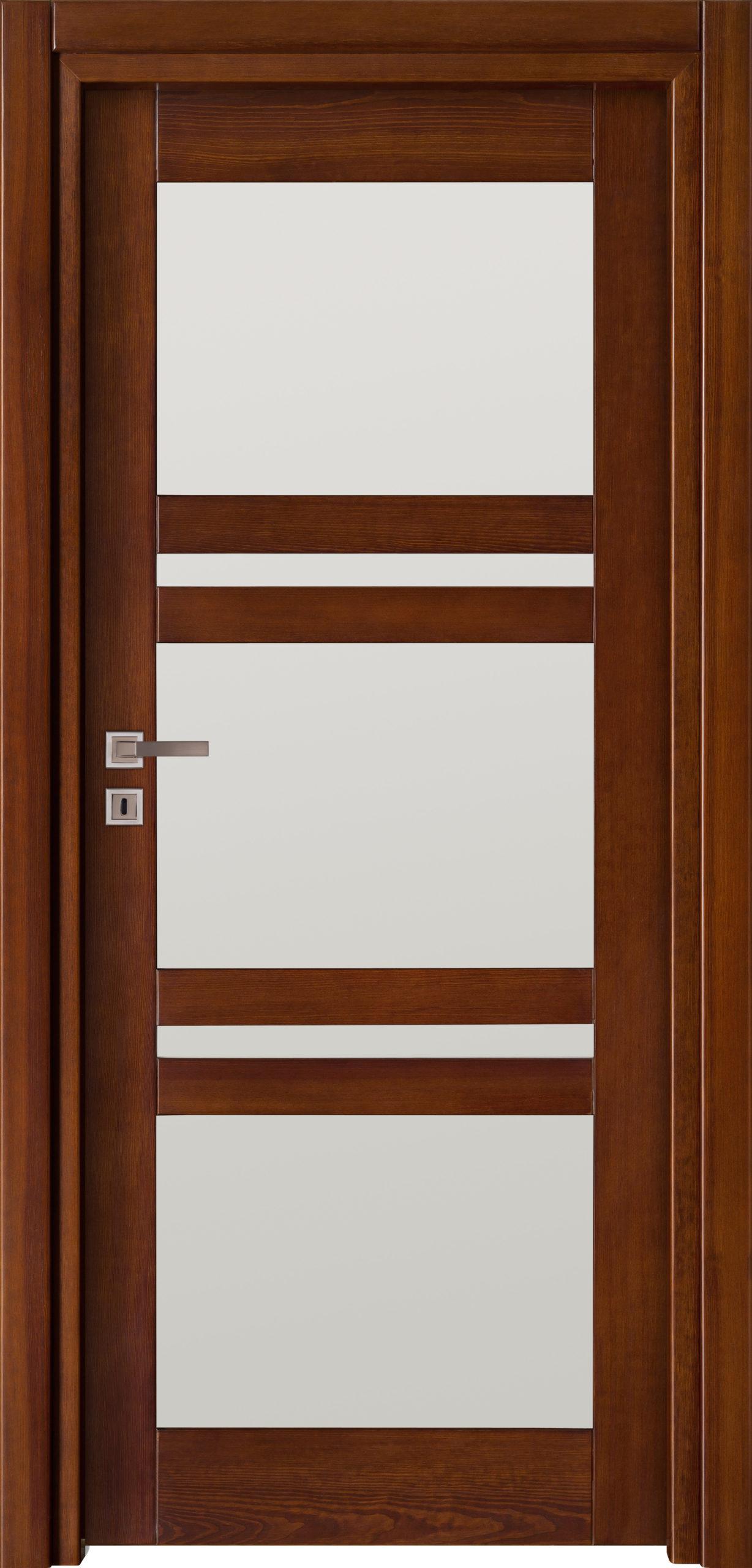 Tanger B3 - jesion - ciemny calvados - szklenie lacomat bezpieczny - ościeżnica przylgowa regulowana drewniana prosta (IIa)