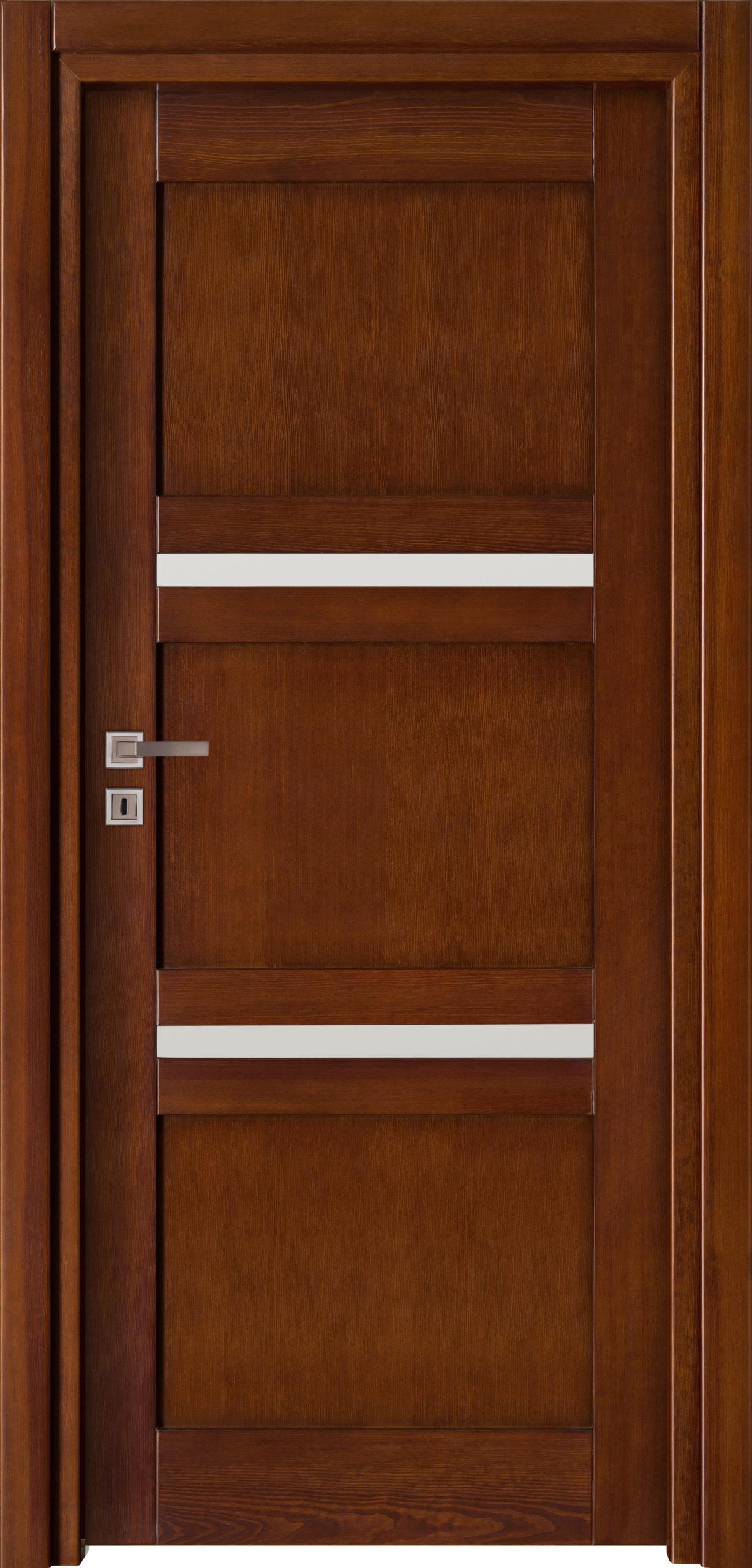 Tanger B4 - jesion - ciemny calvados - szklenie lacomat bezpieczny - ościeżnica przylgowa regulowana drewniana prosta (IIa)