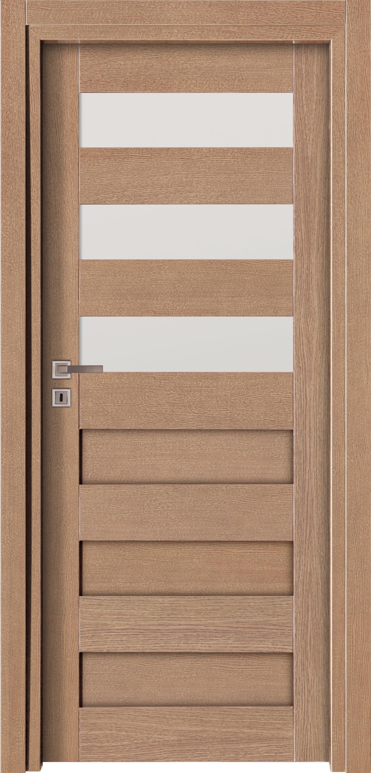 Vigo A4 - jesion - szary - szklenie lacomat bezpieczny - ościeżnica przylgowa regulowana drewniana prosta (IIa)