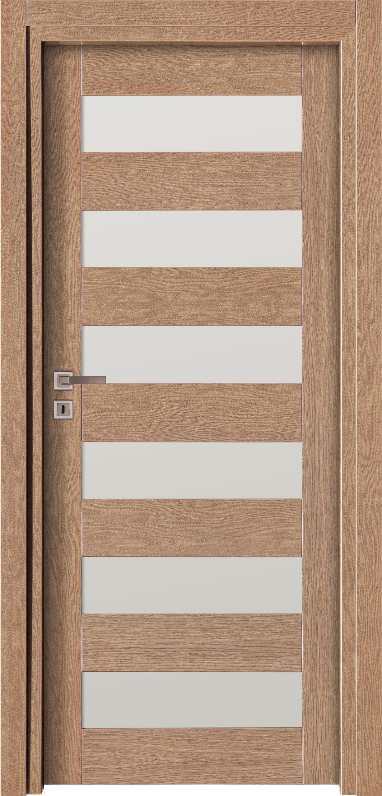Vigo A7 - jesion - szary - szklenie lacomat bezpieczny - ościeżnica przylgowa regulowana drewniana prosta (IIa)